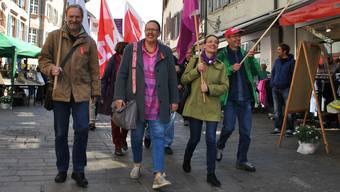 Claudia Rohrer – hier an der 1.- Mai-Feier 2018 in Rheinfelden – führt seit gut einem Jahr auch ihre Fraktion an.
