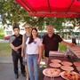 Sie freuen sich auf die Foodstreet (v.l.): Tenzin Kongpo (Kongpo Spezialitäten, Aarau), Stadträtin Suzanne Marclay-Merz, Simone Balmer (Food-Verantwortliche Maienzug), Marco Bella (pizzacar.ch, Suhr). Nadja Rohner