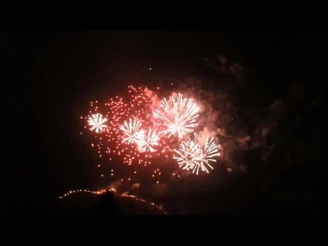 Feuerwerk zur Sonnwendfeier in Oensingen.