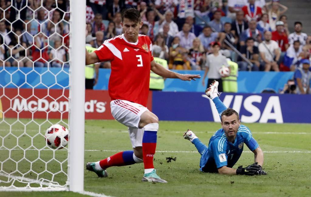 Kroatien gewinnt gegen Russland (© Keystone)