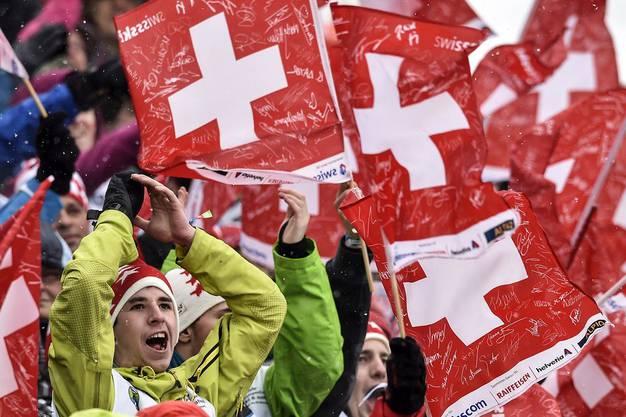 Die Stimmung in Adelboden trotz keinen optimalen Leistungen der Schweizer top.