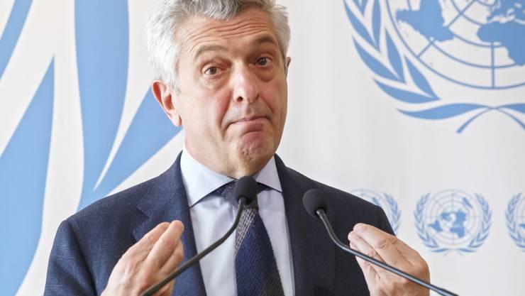 Das Uno-Flüchtlingshilfswerk (UNHCR) ist sehr besorgt über die Tatsache, dass zahlreiche Flüchtlinge auf Booten im Mittelmeer vermisst werden. Im Bild der Leiter des UNHCR, der Italiener Filippo Grandi. (Archivbild)