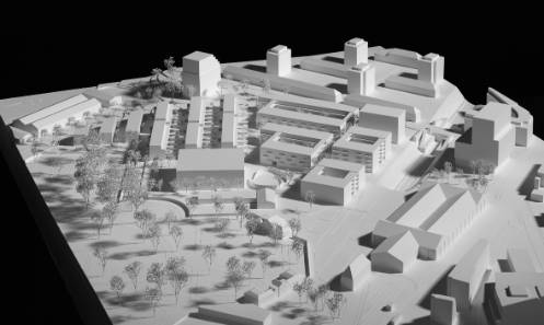«Am Walkeweg»: Der Entwurf der Architekten camponovo baumgartner soll als Grundlage für den anstehenden Bebauungsplan dienen.