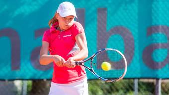 Sophie Lüscher aus Seengen ist im U18-Tableau der Swiss Junior Trophy 2017 in Oberentfelden dabei