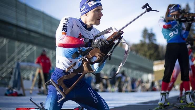 Martin Jäger beim Training in Lenzerheide.