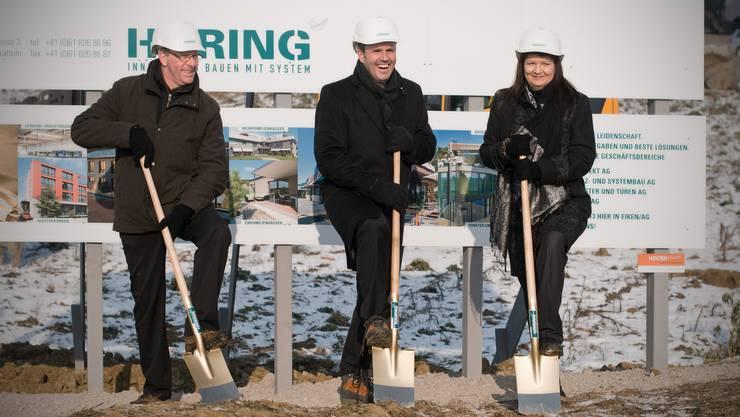 Spatenstich Häring&Co in Eiken: Die Firma will für
