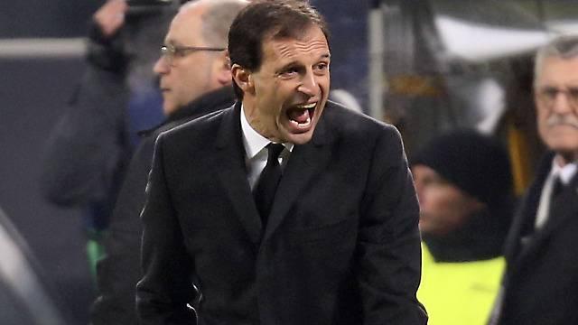 Brauchte viel Nerven: Milan-Trainer Massimilano Allegri