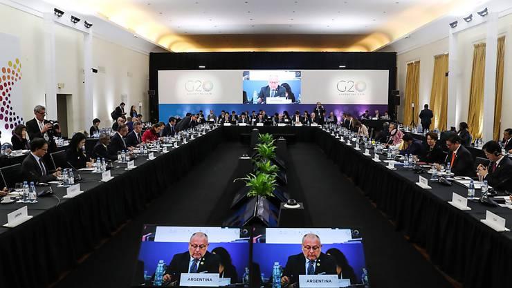 Die Handelsminister der 20 wichtigsten Industrie- und Schwellenländern trafen sich im argentinischen Mar del Plata.