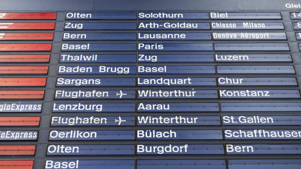 Die mechanische Fallblattanzeige am Hauptbahnhof in Zürich war von 1988 bis 2015 in Betrieb. Nun ist sie zum Kunstwerk geworden und wird im Museum für Digitale Kunst in Zürich ausgestellt (Archiv)