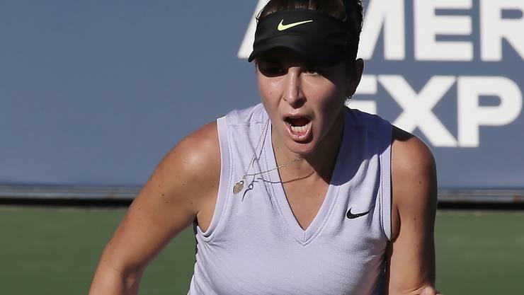 Saugt die Energie von New York regelrecht in sich auf: Belinda Bencic am US Open