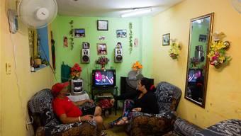 März 2016: Obama besucht Kuba und kommt per TV in die guten Stube - die Kubaner mögen den US-Präsidenten.
