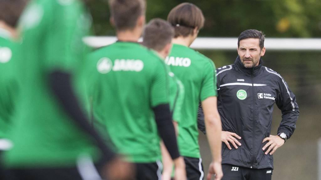 Erstes Spiel des FCSG mit Trainer Joe Zinnbauer startet heute um 18.00 Uhr.