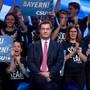 Entschlossener Blick, jubelnde Anhänger – kann Bayerns Ministerpräsident Markus Söder die drohende Wahl-Klatsche noch abwenden?
