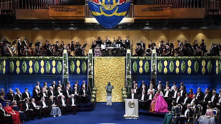 Die Übergabe der Nobelpreise fand am Montag in Stockholm statt.  EPA/PONTUS LUNDAHL SWEDEN OUT