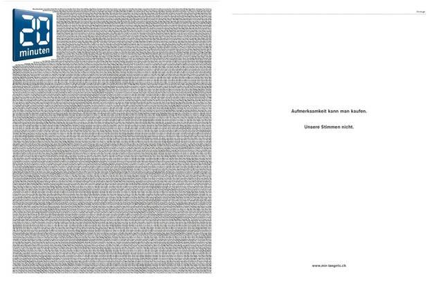 So soll die Titelseite (links) und die darauffolgende Innenseite (rechts) aussehen.