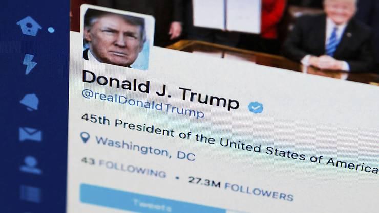 US-Präsident Donald Trumps Tweets sorgen für Empörung. Dies bewirkt trotzdem nichts. (Archivbild)