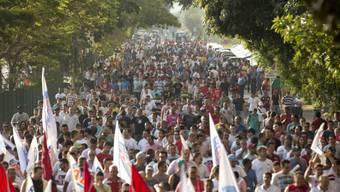 VW-Arbeiter protestieren bei São Bernardo do Campo