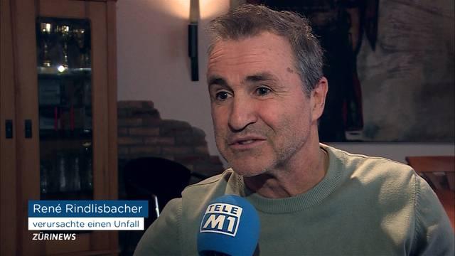 René Rindlisbacher baut schweren Verkehrsunfall