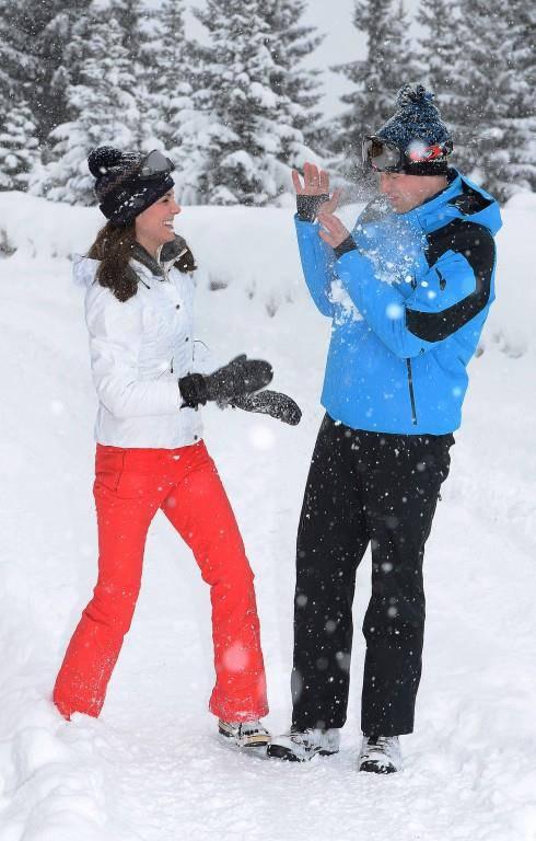 Die Royals im Schnee (© (Photo by John Stillwell))