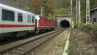 Der Wisenbergtunnel soll gemäss Komitee «Bahn 2000 plus» den heutigen Hauenstein-Basistunnel (Bild) entlasten.