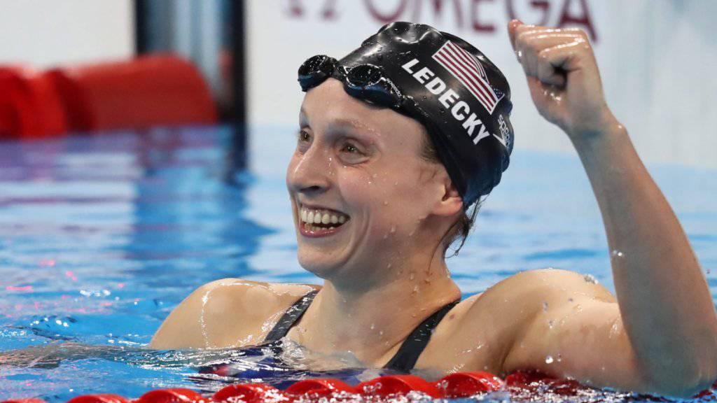 Schwimmt über 1500 m in einer eigenen Liga: Katie Ledecky (Archivbild)