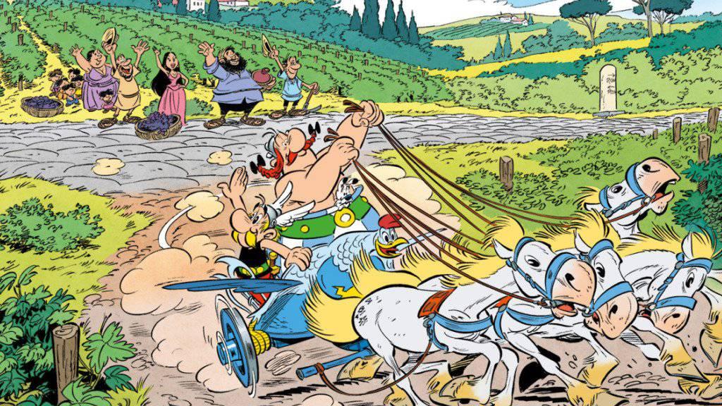 """Für Asterix und Obelix heisst es demnächst """"Arrivederci!"""", denn für den 37. Band reisen sie nach Italien. (Handout)"""