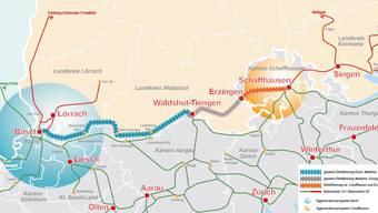 Es bleiben 74 Kilometer auf deutschem Gebiet, die für 160 Millionen Euro zwischen Basel und Erzingen (D) elektrifiziert werden müssen.