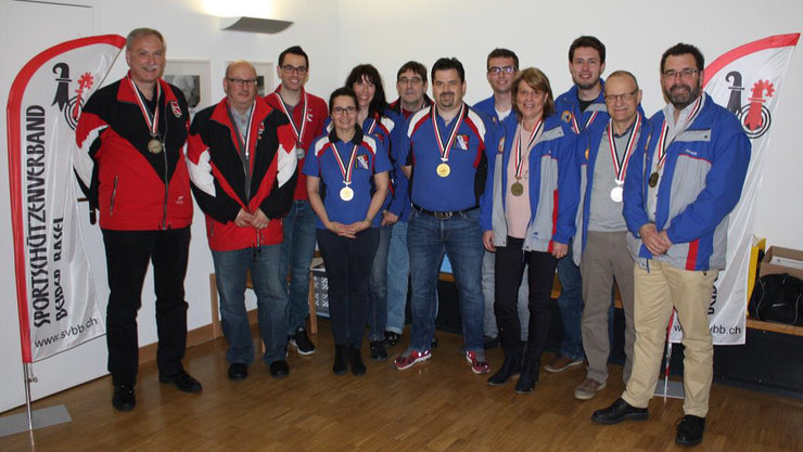 Sieger der BAMM Oberwil, Arlesheim 1 und Oberdorf (v.l.n.r.)