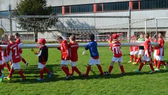 Camp-Kids wollen einmal wie Lionel Messi ins Stadion einlaufen