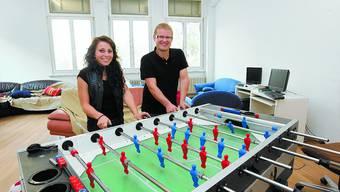 Provi-8-Duo: Betriebsleiter René Hermann und Mitarbeiterin Sara Balaj. (Bild: AE)