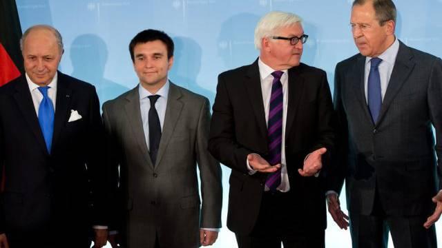 Französischer, ukrainischer, deutscher & russischer Aussenminister
