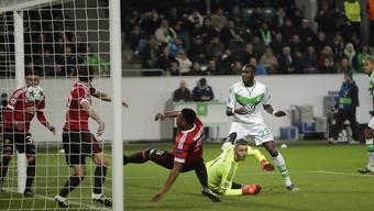 Manchester United kassiert das verhängnisvolle Tor zur 2:3-Niederlage gegen Wolfsburg