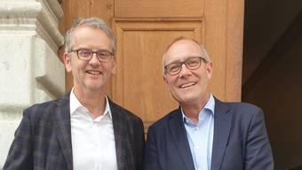 Nach Stefan Batzli (l.) führt Matthias Anderegg die Genossenschaft Baseltor weiter.