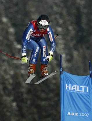 Dann kam die erste WM für die Engelbergerin. In der Abfahrt belegte Gisin den guten fünften Platz.