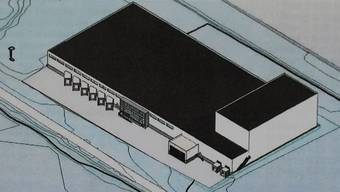 So soll die neue Kühlhalle der Fresh & Frozen Food AG an der Industriestrasse in Wohlen aussehen. zvg