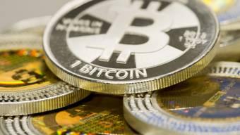Münzen der Bitcoin-Währung
