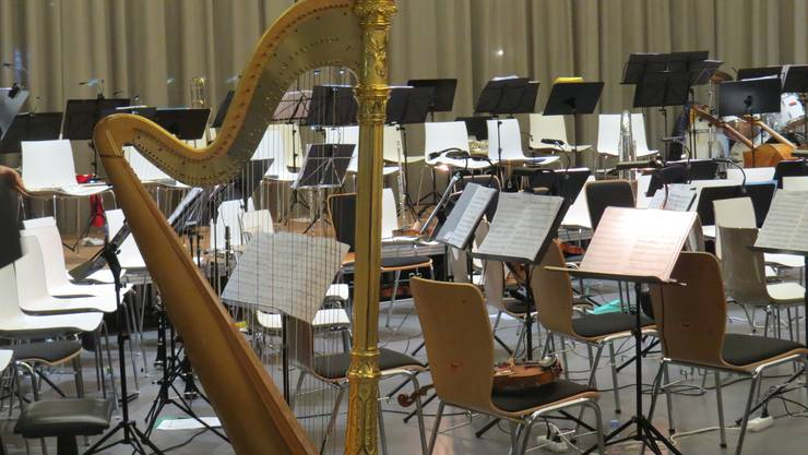 Der Orchesterverein Brugg (OVB) feierte mit dem Jubiläumskonzert «Cinema» seine 200-jährige Vereinsgeschichte. Zusammen mit der Stadtmusik Brugg entstand ein aussergewöhnliches musikalisches Fest. Die Ruhe vor dem Konzert.