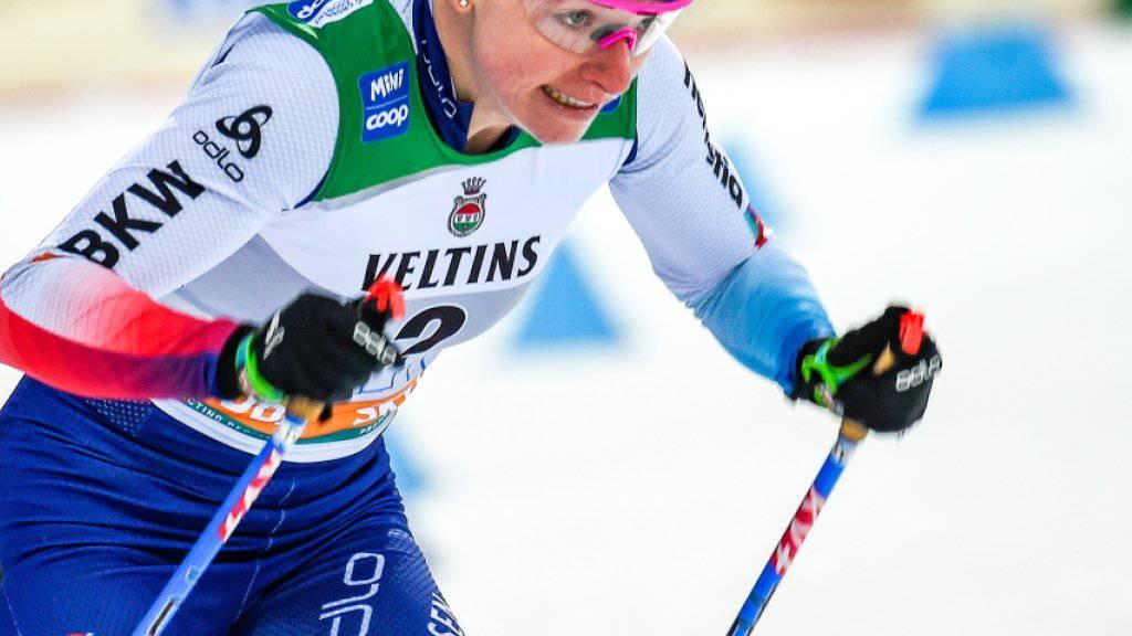 Nadine Fähndrich kämpft in Lahti um den Finaleinzug.