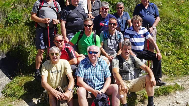 Männerriege Obermumpf auf dem unteren Schafsberg