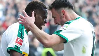 Denis Zakaria und Josip Drmic sorgten für die Schlagzeilen beim 1:1 von Borussia Mönchengladbach in Frankfurt