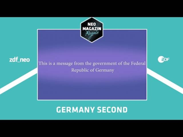 Germany second | NEO MAGAZIN ROYALE mit Jan Böhmermann - ZDFneo