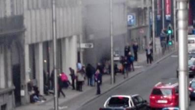 Explosion in der Brüsseler U-Bahnstation Maelbeek.