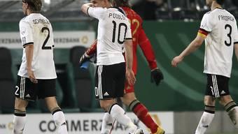 Hängende Köpfe bei den Deutschen