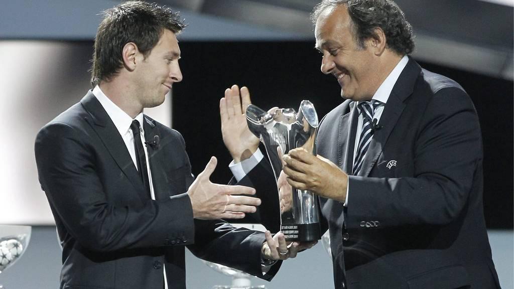 Offshore-Konto-Inhaber unter sich: Lionel Messi und Michel Platini.