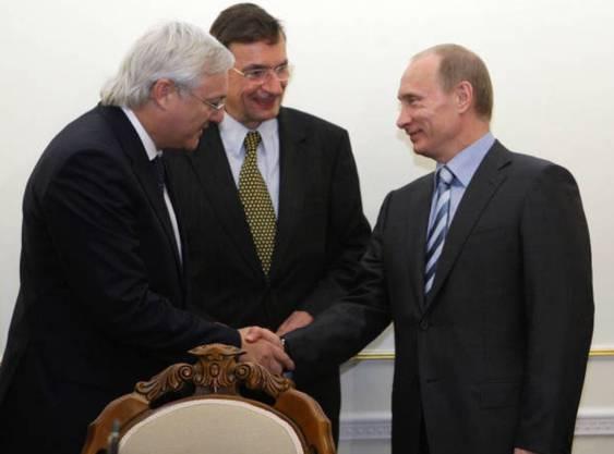 Als Shell-Chef traf Peter Voser die Staatschefs persönlich, hier Russlands Präsident Vladimir Putin.