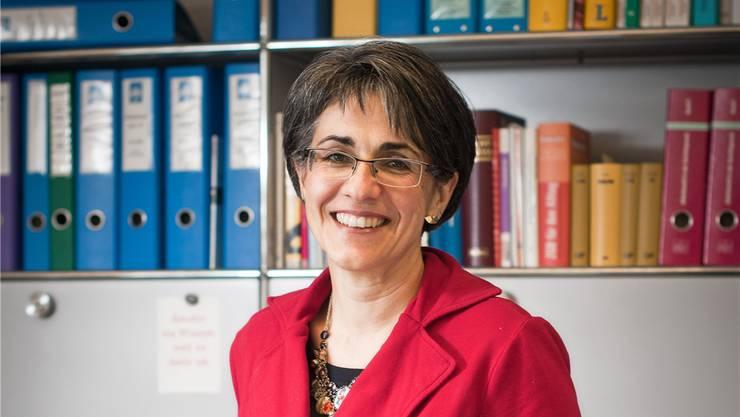 Kathrin Scholl-Debrunner in ihrem Büro in Aarau. Annika Bütschi