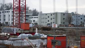 Viel neuer Wohnraum entsteht in der Siedlung Aarenau im Scheibenschachen in Aarau.