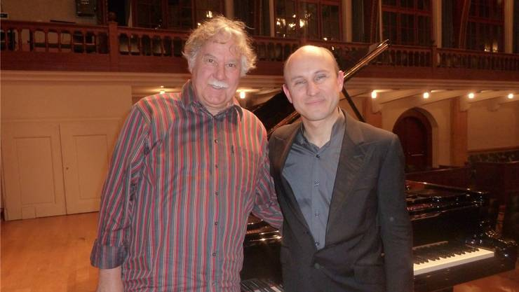 Veranstalter Franz Grimm konnte den Starpianisten Nelson Goerner schon verschiedentlich in Solothurn begrüssen.