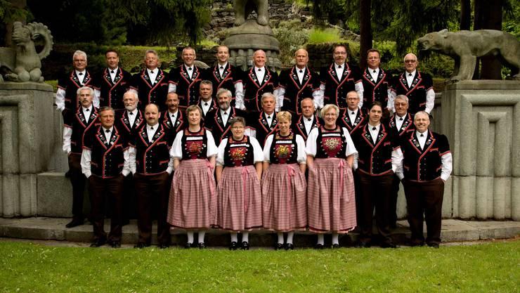 Klubfoto vom eidgenössischen Jodlerfest Davos im Sommer 2014.