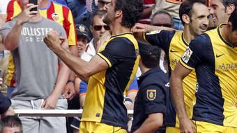 Der Atletico-Jubel nach dem Tor von Raul Garcia (l.)